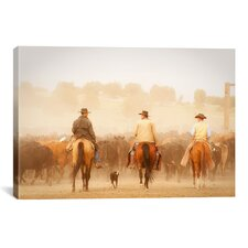 'Cowboys Best Friend' by Dan Ballard Photographic Print on Canvas