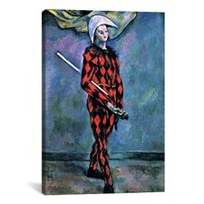 'Harlequin' by Paul Cezanne Painting Print on Canvas