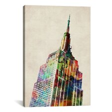 'Empire State Building' by Michael Tompsett Graphic Art on Canvas