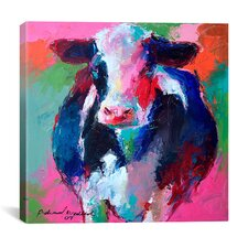 """Cow II"" by Richard Wallich Graphic Art on Canvas"