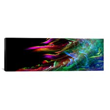 Digital 'Fire Wave' Graphic Art on Canvas