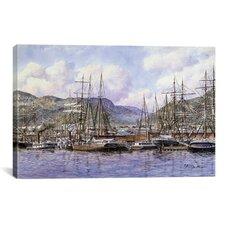 'Honolulu Harbor, California, 1898' by Stanton Manolakas Painting Print on Canvas