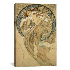 'Dance' by Alphonse Mucha Painting Print on Canvas