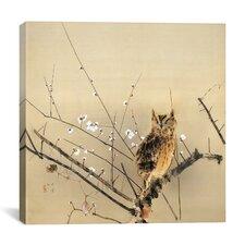 Early Plum Blossoms Canvas Wall Art by Nishimura Goun
