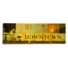 Panoramic Downtown Sign Printed on a Wall, San Francisco, California Photographic Print on Canvas