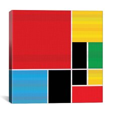 Modern Colored Composition Graphic Art on Canvas