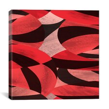 Modern Abstract Petals Graphic Art on Canvas