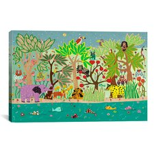 'Jungle Beasts' by David Sheskin Graphic Art on Canvas