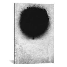 Modern Art a Negative Sun Graphic Art on Canvas