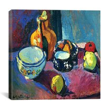 """Dishes and Fruit (1901)"" Canvas Wall Art by Henri Matisse"