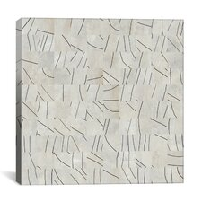 Modern Art Brushstrokes Cut into 49 Squares Graphic Art on Canvas
