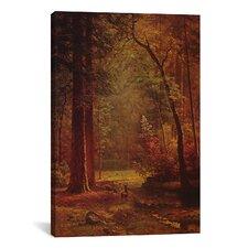 'Dogwood' by Albert Bierstadt Painting Print on Canvas