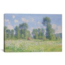 Effet De Printemps a Giverny 1890 by Claude Monet Painting Print on Canvas