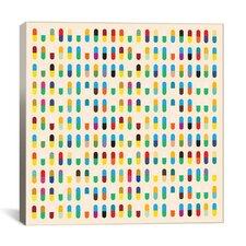 Modern 10 Capsules Memorabilia Graphic Art on Canvas