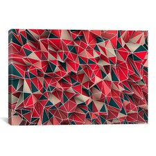 'Kaos Red' by Maximilian San Graphic Art on Canvas