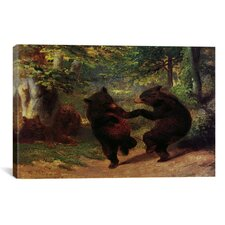 Fine Art Dancing Bears Painting Print on Canvas