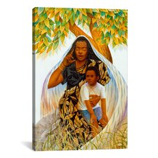 'Griot (the Storyteller)' by Keith Mallett Painting Print on Canvas