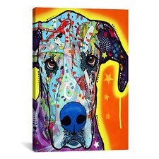 """Great Dane"" by Dean Russo Graphic Art on Wrapped Canvas"