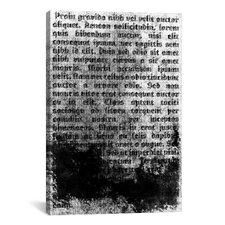 Modern Burnt Passage Textual Art on Canvas