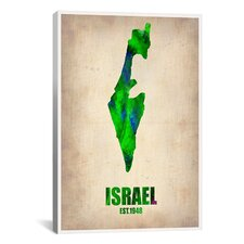 Naxart Israel Watercolor Map Graphic Art on Canvas