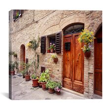 """Flowers on the Wall, Tuscany, Italy 06 - Color"" Canvas Wall Art by Monte Nagler"