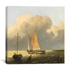 """Coastal Scene with a Tjalk"" Canvas Wall Art by Ludolf Backhuyzen"
