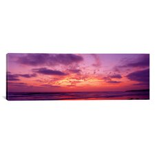 Panoramic Clouds in the Sky at Sunset, Pacific Beach, San Diego, California Photographic Print on Canvas