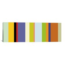 Striped Art 'For the Love of Color' Graphic Art on Canvas