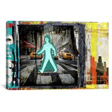 """Man NY"" by Luz Graphics Graphic Art on Canvas"