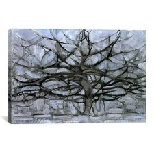 'Tree, 1912' by Piet Mondrian Painting Print on Wrapped Canvas
