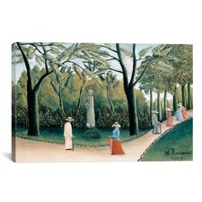 'Luxembourg Gardens (Monument to Chopin) 1909' by Henri Rousseau Painting Print on Canvas