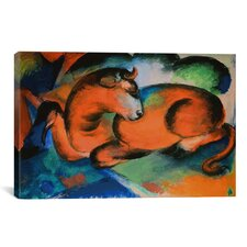 'Red Bull' by Franz Marc Painting Print on Canvas