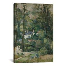 'Maisons Dans La Verdure 1881' by Paul Cezanne Painting Print on Canvas