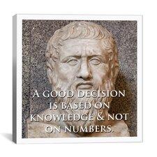 Plato Quote Canvas Wall Art