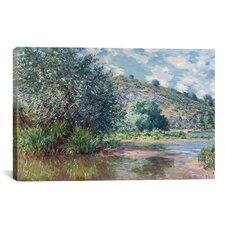 'Paysage a Port-Villez 1885' by Claude Monet Painting Print on Canvas