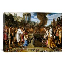 Fine Art 'Orestes and Pylades Disputing at the Altar' by Pieter Lastman Painting Print on Canvas