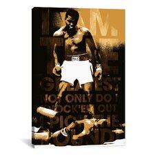 Muhammad Ali Vs. Sonny Liston, 1965 'I am The Greatest' Graphic Art on Canvas