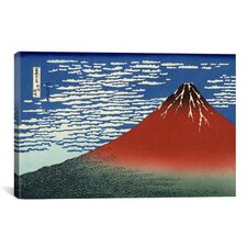 'Mount Fuji in Clear Weather (Red Fuji) 1930' by Katsushika Hokusai Painting Print on Canvas
