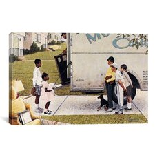 'Moving in (New Kids In The Neighborhood)' by Norman Rockwell Painting Print on Canvas