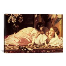 'Mother and Child' by Frederick Leighton Painting Print on Canvas
