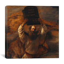 """Moses with The Ten Commandments"" Canvas Wall Art by Rembrandt"