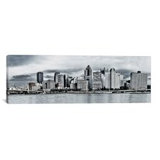 Panoramic Photography Pittsburgh Skyline Cityscape Photographic Print on Canvas