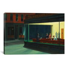Nighthawks, 1942 by Edward Hopper Painting Print on Canvas