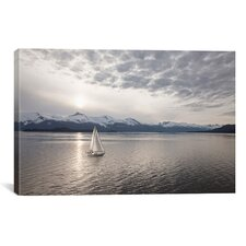 'Sailing at Sunset, Alaska '09' by Monte Nagler Photographic Print on Wrapped Canvas