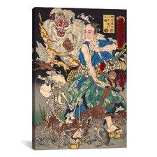 Japanese Art 'Sakakibara Kenkichi' by Kawanabe Kyosai Painting Print on Canvas