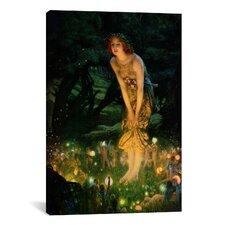 'Midsummer Eve, C.1908' by Edward Robert Hughes Painting Print on Canvas