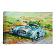 Cars and Motorcycles Mercedes 300 Sl Racing Painting Print on Canvas
