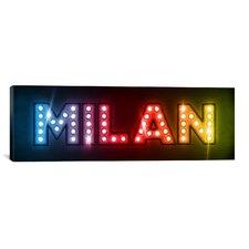 'Milan' by Michael Tompsett Textual Art on Canvas
