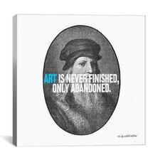 Leonardo da Vinci Quote Canvas Wall Art