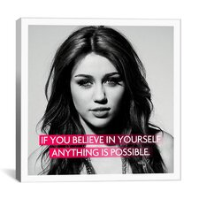 Miley Cyrus Quote Canvas Wall Art